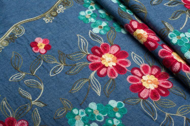 Ткань джинсовая с вышивкой купить juki ddl 900a s